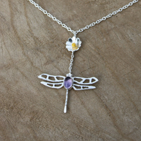 Dragonfly Drop Necklace