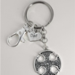 Dad Keyring With Round Celtic Charm And Extra Clip
