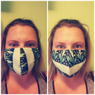 3 layer reusable face masks with EXTRA filter pocket for tissue