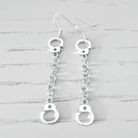 Handcuffs on a Chain Earrings