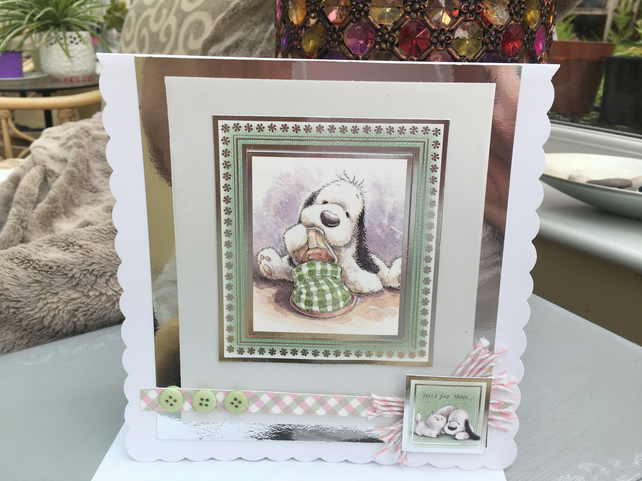 Cute puppy just for you card