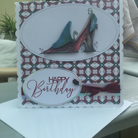 Mad about shoes Ladies birthday card