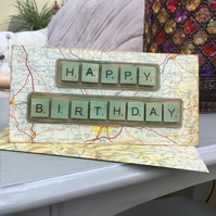 Genuine OS 1970's road map birthday card
