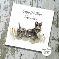 Personalised Birthday Card - Canine Capers - Scottish Terrier
