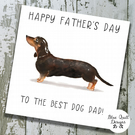 Personalised Father's Day Card - Canine Capers - Dachshund