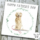 Personalised Father's Day Card - Canine Capers - Golden Retriever