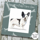 Personalised Birthday Card - Canine Capers - French Bulldog