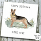Personalised Birthday Card - Canine Capers - German Shepherd