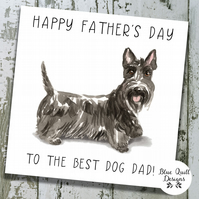 Personalised Fathers Day Card - Canine Capers - Scottish Terrier