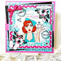 Extra Large Special  Birthday Card 50s Style