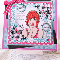 Retro 50s Birthday Card