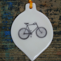 Porcelain bicycle decoration