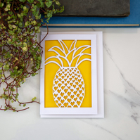 Laser Cut Pineapple Card