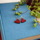 Laser Cut Heart Earrings