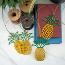 Laser Cut Wooden Pineapple Bunting