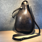 Leather Bottle, Costrel, Medieval Re-enactment, Historical Style Leather Bottle
