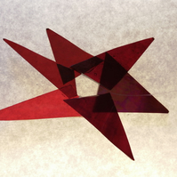 GLASS STAR-RED