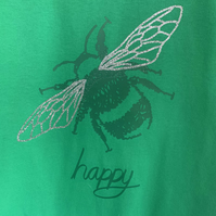 Cute Bee happy Bumblebee T-shirt children selection of colours