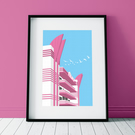 Art deco building poster print