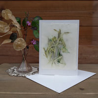 Handmade Rosemary and Chilli Eco Print Card