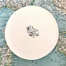 Handmade Bumble Bee Stamped Ceramic Clay Ring Dish