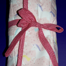 Unicorn Pink Dolly Wrap Play Mat with pockets for six dolls