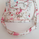 Cute floral messenger bag