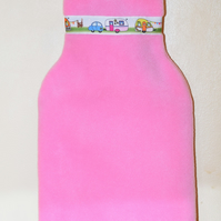 Hot Water Bottle Cover - Caravan Theme - Pink