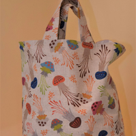 Tote Bag - Fully Lined - Jelly Fish Design