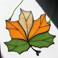 Maple Leaf Stained Glass Suncatcher