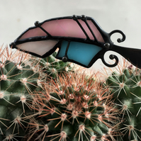 Small Feather Stained Glass Brooch