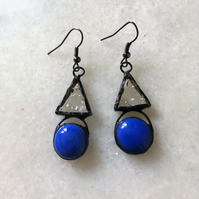 Stained Glass Earrings Triangles