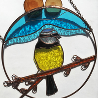 Yellow Tit Stained Glass Suncatcher