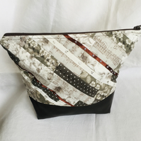 Unique Designer Wash Bag, Stunning Make Up Bag, One of A Kind Bag.