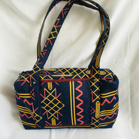 Aztec Design Holdall Bag, Unique Box Bag, Great Overnight Bag, Baby Bag.