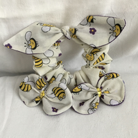 Beetiful Hair Accessories Set, Bee Bow Scrunchie, Bow Hair Clips, For The Bees.