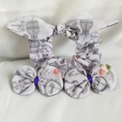 Parisian Bow Hair Accessories Set, Scrunchy, Hair Clips, Hair Bows. Great Gift