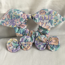 Pretty Hair Accessories Set, Bow Scrunchy, Hair Clips, Bow Hair Clips.