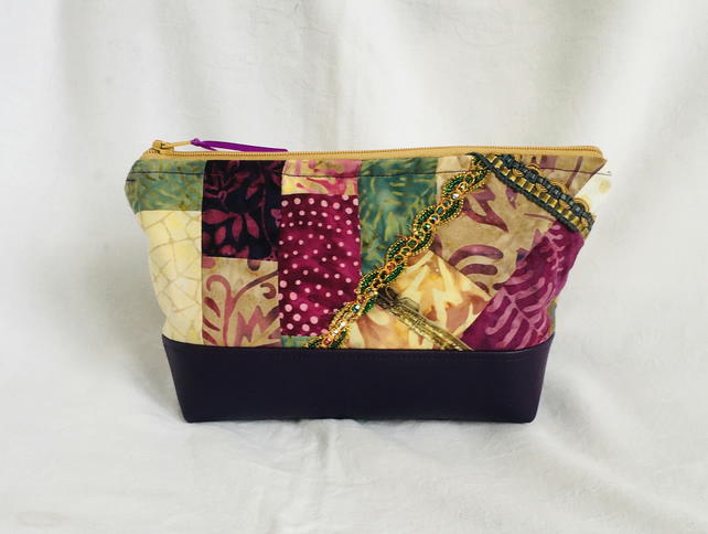 Exclusive One Off Make Up Bag, Designer Cosmetic Bag, Cosmetic Bags,