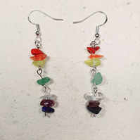 Gemstone Rainbow earrings