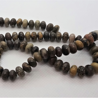 Gemstone Rondelles, Browns, 8mm (11-4A)