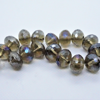 Glass Faceted Rondelle Beads AB Plated (11-29A)