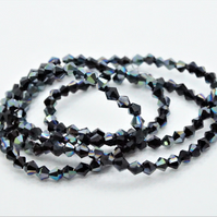 Plated Glass Bicone Beads (12-4A)