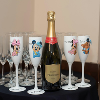 Mickey and Minnie Mouse Personalised Glasses set