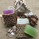 Crocheted Jute Soap Bag