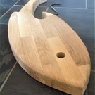 WOODEN SERVING BOARD. LARGE PLATTER FISH SHAPED Solid beech Cheese, pastries etc