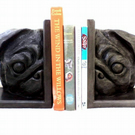 PUG BOOKENDS - Sculptural, solid and heavy, traditional.