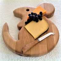 GIANT MOUSE SHAPED SERVING BOARD CHEESE BOARD Solid oak Fine dining, cheese etc