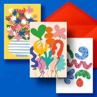 GREETING CARDS SET - Pack of 5 mixed cards