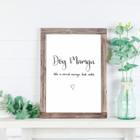 Dog Mamgu A4 Printable Download Home Decor Print